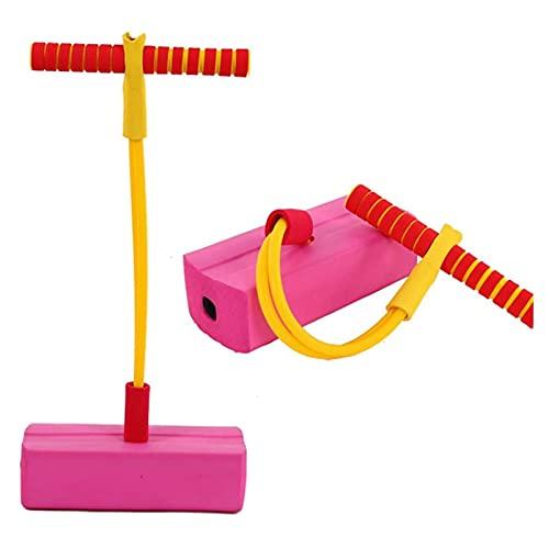 GST Saltador Pogo Stick for niños Muñeca de Primavera 102cm Alto Salto Bar Jumper Jumper Jersey Impresionante Diversión Calidad Pogo Stick for niños y niñas Fitness Deportes Juguetes ( Color : Pink )