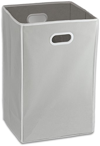 Foldable Closet Laundry Hamper Basket, Grey