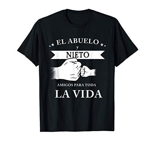 Hombre ABUELO Y NIETOS AMIGOS PARA TODA LA VIDA CAMISETA DE MEJOR Camiseta