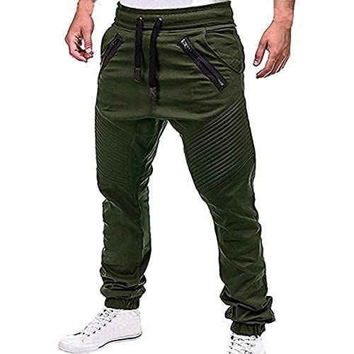 LKHJ Hombres Casuales Joggers Pantalones Solid Fards Carga Sweetpants Masculino Multi-Bolsillo Pantalones Nuevos Hombre Sportswear Hip Hop Pencil Pantalones-B_SG