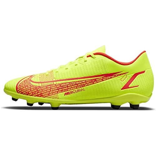 Nike Vapor 14 Club FG/MG, Scarpe da Calcio Unisex-Adulto, Volt/Bright Crimson, 42.5 EU