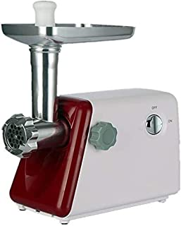 Electric Meat Grinder, 400W Stainless Steel Mincer Sausage, Food Processor, Aluminum Tray (Color : Red) S (Color : Black) ...
