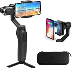 Moza Mini-MI 3-Axis Smartphone Wireless Charging Gimbal Stabilizer, Multiple Subjects Detection, Inception Mode, Timelapse for iPhone 11 Pro X Xs Max/8/7/7 Plus/6,Samsung Galaxy S8+/S8/S7