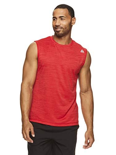 Reebok Men's Muscle Tank Top - Sleeveless Workout & Training Activewear Gym Shirt - Rise Navy,...