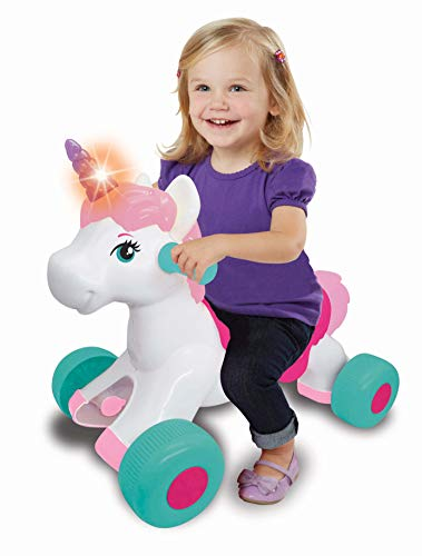 Kiddieland Light N Sounds Magical Ride-on Unicorn