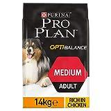 PRO PLAN - Medium Adult avec OPTIBALANCE Riche en Poulet - 14 kg - Croquettes pour chiens adultes de taille moyenne