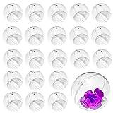 Pulluo 30 Pcs Bola de Plástico Transparente Bola Rellenable para llenar Caramelo DIY Artesanías Artesanales Esferas de Plástico de Fiesta de Cumpleaños de Bodas Household Decoración (6CM)