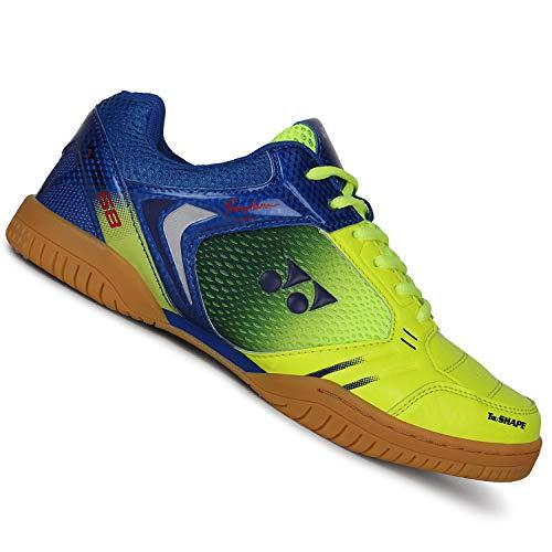 Yonex Super Cushion Non-Marking Badminton Court Shoes, Lime Green/Blue/Purple