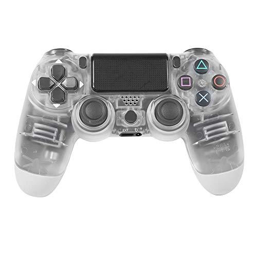 Akaddy kabelloser Bluetooth Gamepad Joystick Controller für Sony PS4 (klares Weiß)
