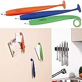 General Office Bürobedarf: 3er-Set Kugelschreiber mit Silikonhülle und Magnet (Kugelschreiber mit...