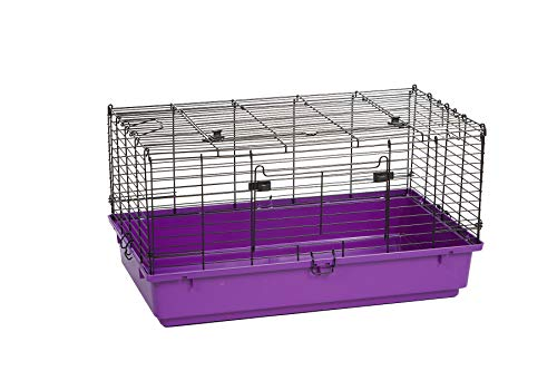 Pet Lodge Medium Plastic Bottom Rabbit Cage Wire Rabbit Cage w/Easy to Clean Pull Out Floor, Also Great for Other Small Animals (Item No. 150941)