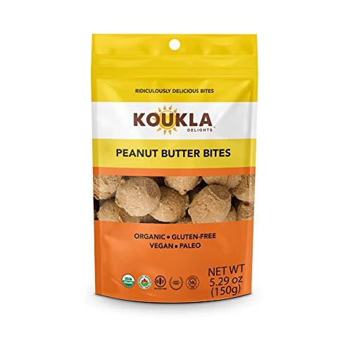 Koukla Delights – Peanut Butter Bites, Organic, Gluten-Free, Non-GMO, Vegan, Paleo, Kosher Bites 5.29 oz (Single bag)