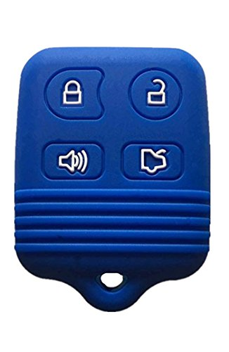 KAWIHEN Silicone Key Fob Cover Compatible with Ford Mustang Edge Escape Expedition Explorer Focus Escort Lincoln Mercury CWTWB1U331