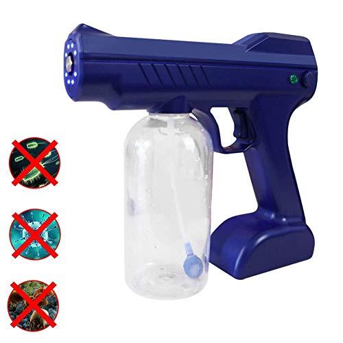 Spritzer blaues Licht Handheld Nano-Dampfpistole, elektrisches Sprühgerät ULV tragbare Handheld-Sprühmaschine zur Desinfektion Befeuchtung und Reinigung rot (Color : Blue)