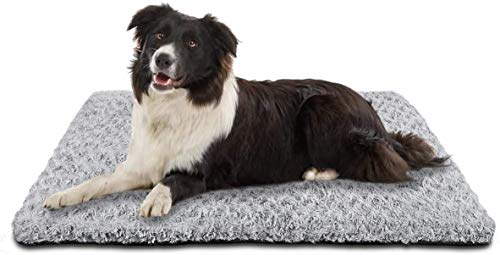 SIWA MARY Dog Bed Crate Pad Mat 30/36/42 in Anti Slip Washable Mattress Pets Kennel Pad for Large Medium Small Dogs Sleeping (30-inch, Grey) Beds