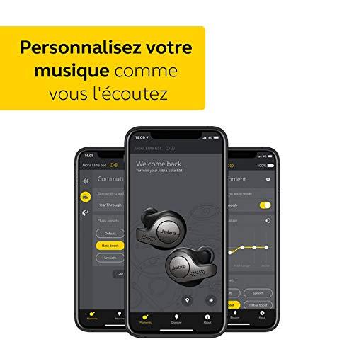 Jabra Elite 65t Écouteurs - Écouteurs Bluetooth sans Fil à Isolation Passive du Bruit avec Technologie à 4 Microphones - Noir Titane