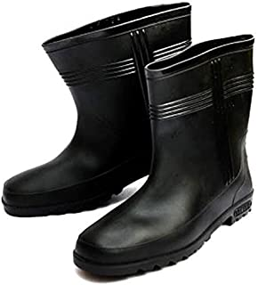 Hillson Hitter Leather Tech Safety Without Lining/ Industrial Gumboot - 7