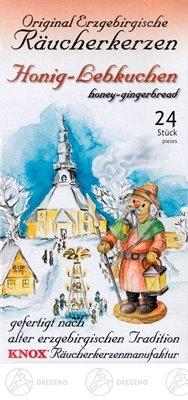 Wierook kegels KNOX honing peperkoek (24) BxHxT 65 x 120 x 22mm TEGEN Erts Bergen Folk kunst Erts berg vakmanschap accessoires Wierook man Wierook kegel