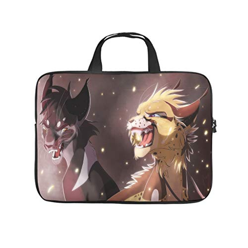 fantasy creature tigers argument fantasy Laptop bag Design Laptop Case Bag Soft Waterproof Laptop Sleeve with Portable Handle for Women Men white 17 zoll