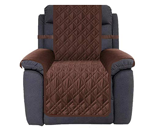 Ameritex Waterproof Nonslip Recliner Cover Stay in Place, Dog Chair Cover Furniture Protector, Ideal Recliner Slipcovers for Pets and Kids (23', Chocolate)