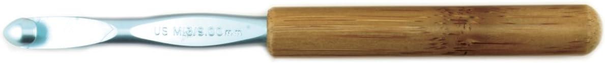 Susan Max 85% OFF Bates Tampa Mall 5-1 2-Inch Bamboo Hook Head Crochet Silvalume Handle