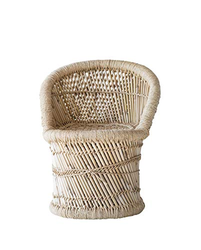 Creative Co-Op Bamboo and Woven Rope Tropical Children's Chair