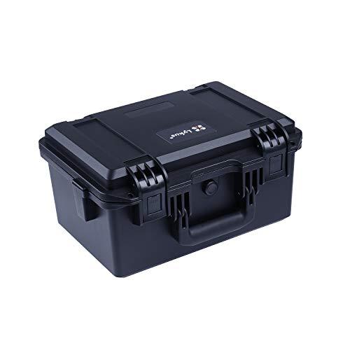 Lykus HC-3320 Estuche Impermeable con Espuma, Maletín para cámara, tamaño Interior 33x21x17.5 cm, Adecuada para Cámara réflex, Lentes, Pistola, dron pequeño, videocámara y Otros