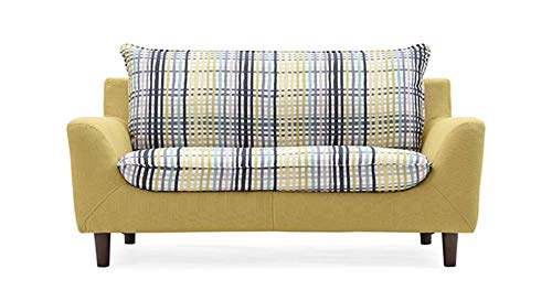 Urban Ladder Lillian Loveseat (Colour : Checkered Muted Lime)
