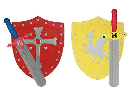 Ideal Trend Ritter 2er Set Schwert Schild Spielzeug Zubehör Fasching Karneval Schaumstoff