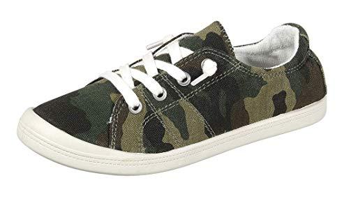 Forever Link Women's Classic Slip-On Comfort Fashion Sneaker, Camoflauge, 8.5