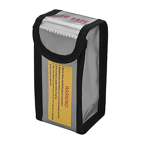 CuteLife Lipo Bolsa Segura FirePoof Impermeable Lipo Batería Caja Fuerte Bolsa De Explosión Bolsa para Taller y Hogar (Color : Silver, Size : OS1455-1)