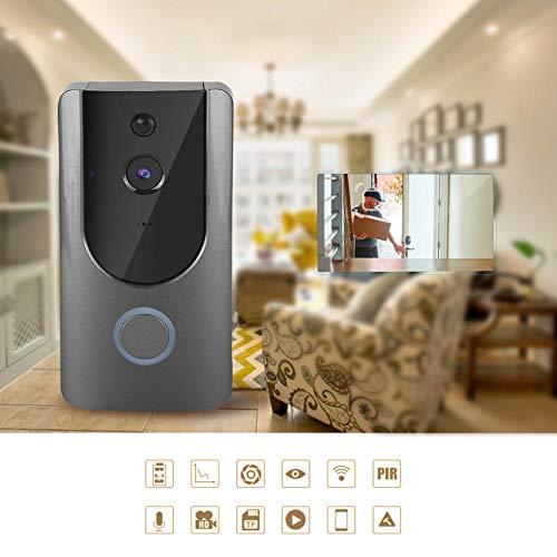 Videodeurbel, 720P Smart WiFi Draadloze IP-intercom Deurbel Zichtbare cameraviewer Toegangsset voor huisvilla-appartementen