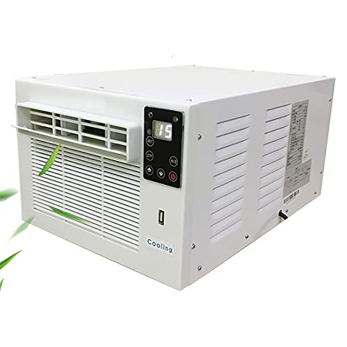 Aire Acondicionado portátil con refrigeración Ligera, calefacción, deshumidificación, temporización, función de Carga del teléfono con Pantalla LED para Tiendas de campaña, Oficina en casa, Viajes