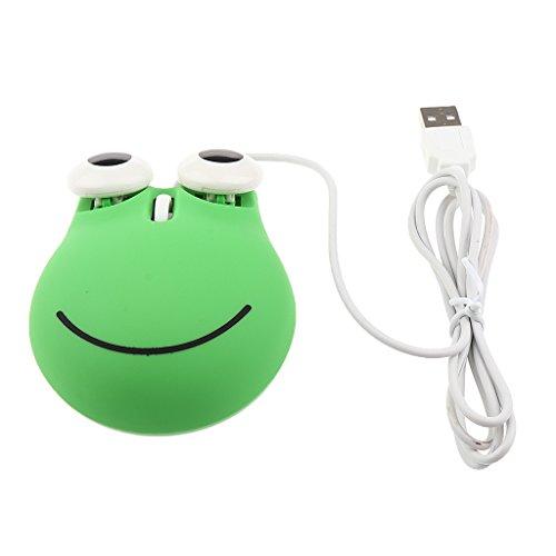 IPOTCH Creative 1000 DPI Wired Optical Mouse mit 3 Komfortablen Tasten - Grün