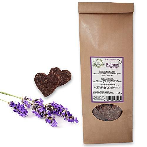 Herbal Force Lavendel - Kräuterleckerlies für Pferde Leckerli mit Kräuter zur Beruhigung bei Stress und nervöser Unruhe für schreckhafte Pferde - vegan, getreidefrei (Lavendel - Ruhepol - 1x200g)