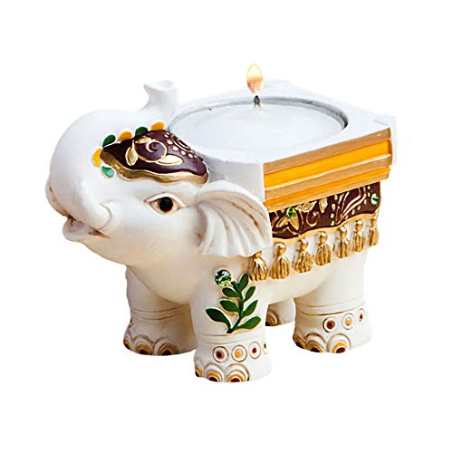 FASHIONCRAFT Good Luck Elephant Candle Holders – Good Luck Favors, 1 Count