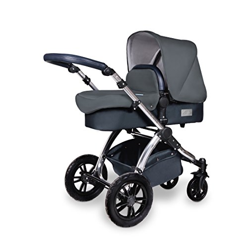 Ickle Bubba Stomp V4 SPECIAL EDITION Baby Travel System | Bundle incl Rear and Forward-Facing Pushchair, Car Seat, Carrycot, Footmuff and Raincover | Blueberry/ Chrome