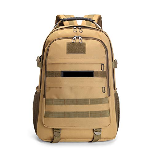 BYBYTO 50L Rucksack Military Tactical Backpack School Bag Assault Pack MOLLE Trekking Backpack for Outdoor Hiking Camping Hunting,khaki