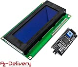 azdelivery hd44780 modulo display lcd 2004 display bundle con interfaccia i2c 4x20 caratteri (sfondo blu) con ebook