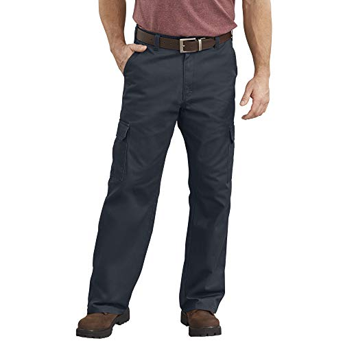 Dickies Men's Loose-Fit Cargo Work Pant, Dark Navy, 34W x 34L