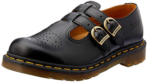 Dr Martens Women's 8065 Mary Jane Buckle Leather Shoe Black-Black-5