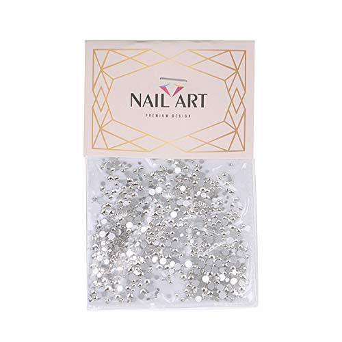 Round Crystal Rhinestones Nail Art Craft 3D Crystal AB Color Flat Back Rhinestones Nail Art DIY Crafts Gemstones with Nail Art Gem Stones
