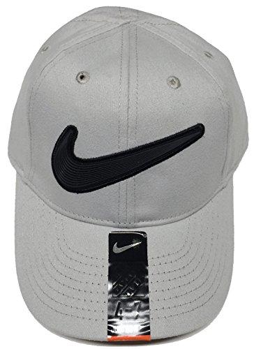 Nike Big Swoosh - Gorra de béisbol para niño, Talla 4/7, Color Gris Neutro