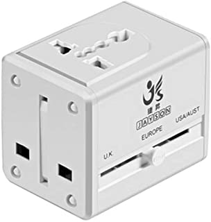 XIMINGJIA-O Power Plug Adapter - International Travel - 2 USB Ports in Over 150 Countries - 100-240 Volt Adapter - (1 Pack) White International Converter, (Color : White)