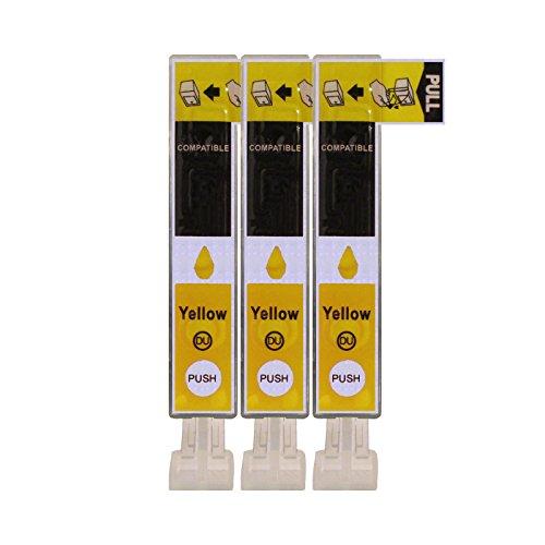 3 Druckerpatronen im Set; kompatibel zu CLI-526Y Yellow mit CHIP und Füllstandanzeige; Patronen der Marke D&C; diese Tintenpatronen sind geeignet für folgende Canon Drucker Pixma IP4850 IP4950 IX6550 MG5100 MG5150 MG5200 MG5250 MG5300 MG5350 MG6100 MG6150 MG6200 MG6250 MG8100 MG8150 MG8200 MG8250 MX885 MX715 MX895