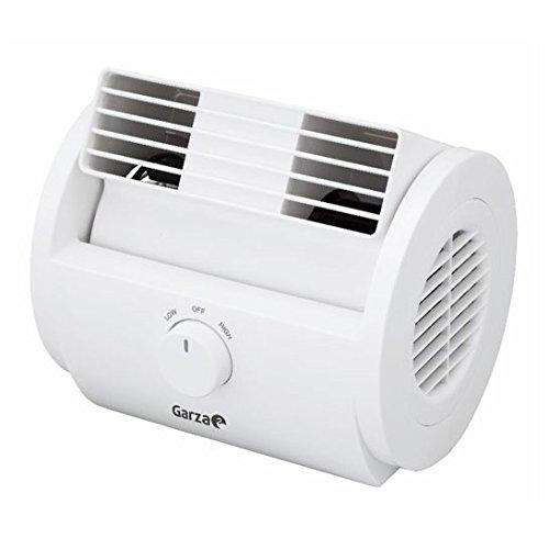 Garza Nuberun - Ventilador de Mesa Oscilante de Diseño Compacto, potencia 25W, Cabezal Ajustable y Rejilla de Seguridad
