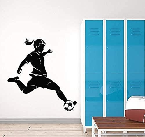 Calcomanía de pared,pared de vinilo calcomanía mujer ventilador pegatina mural familia dormitorio habitación habitación decoración 113x118cm