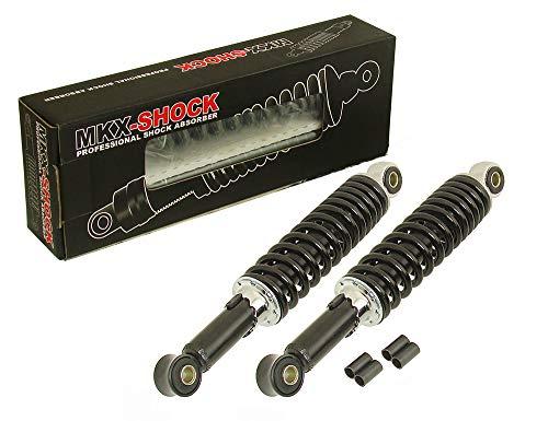 340 mm Stoßdämpfer Federbein Set Schwarz für Mofa Moped Mokick - Honda Dax Monkey Zündapp Puch Hercules K T M DKW Simson