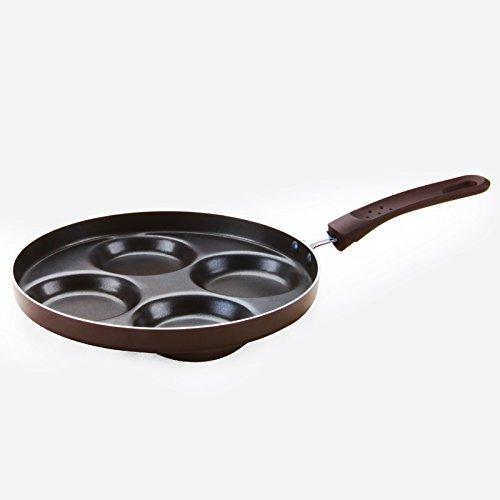 Miniinthebox cuatro agujeros antiadherente Huevo Frito sartén 24cm sartén de cocina (innovadora...