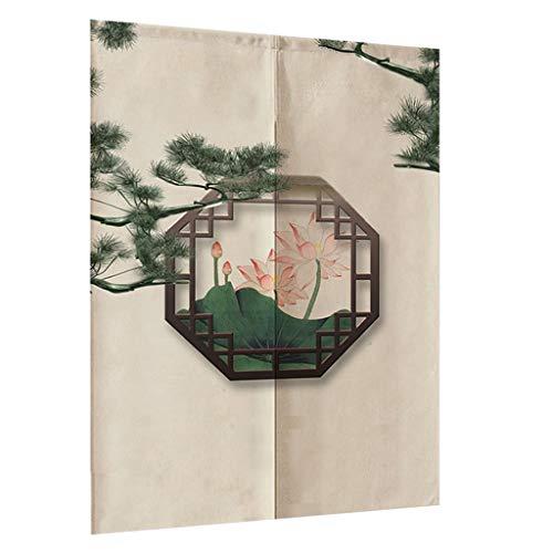 FLAMEER Cortina Separadora, Divisora de Habitación Decorativa Estilo Chino Fengshui 85cm Ancho Resistente a Agua - Estilo_10, 85x120cm